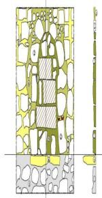 Dorfkirche Glasow Zeichnung der Priesterpforte